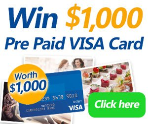 Enter now to win a $1000 pre-paid VISA card!