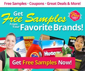 Get free samples from your favorite brands!