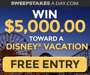 Enter for free to win $5000 for your Disney vacation!