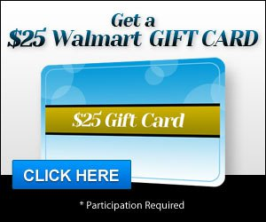 Get a $25 gift card to Walmart today!