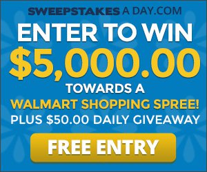 Win a $5000 Walmart Shopping spree and a $50 daily giveaway!