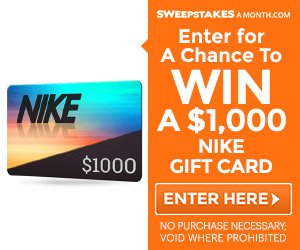 Enter now to win a $1000 Nike gift card!